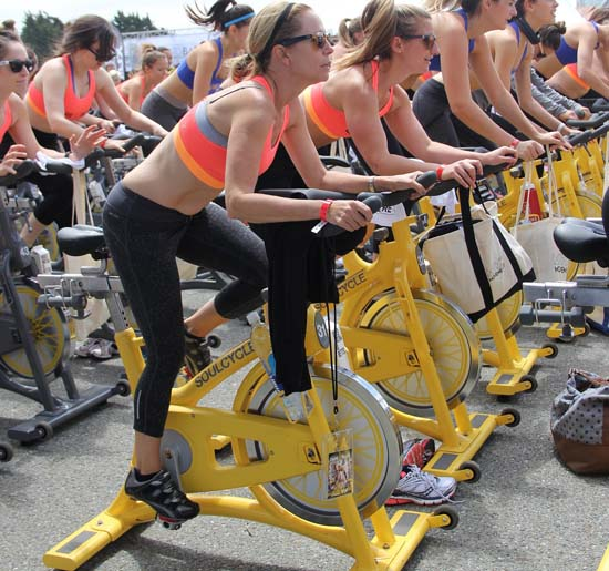 spinning gym class