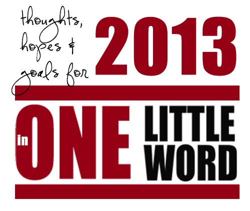 One little word – 2013
