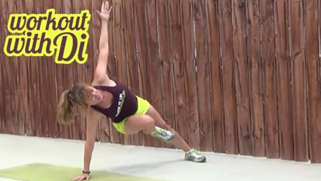 5 minute HIIT workout 20140515 - side plank knee