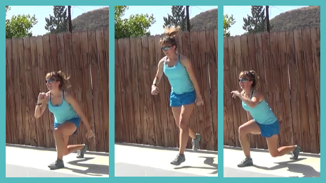 10 minute interval workout 20140624 lunge