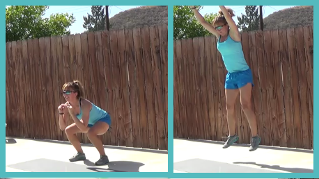 10 minute interval workout 20140624 - squat