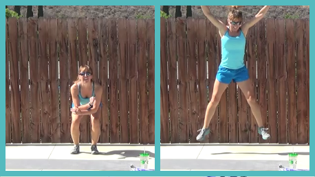 10 minute interval workout 20140624 star jump