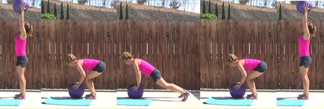 15 min med ball HIIT workout 20140730 burpee