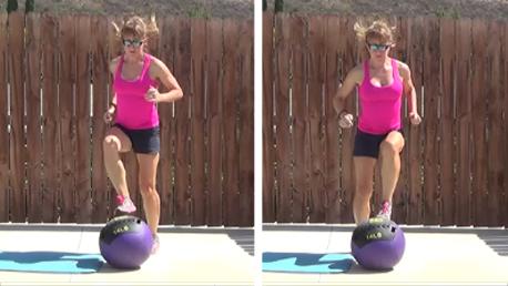 15 min med ball HIIT workout 20140730 quick feet