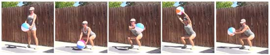 15 minute beach ball workout 20140702 squat