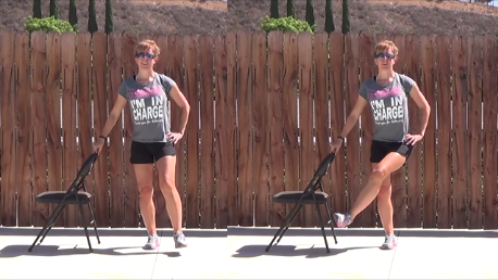 10 min standing chair workout 20140813 front leg sweep