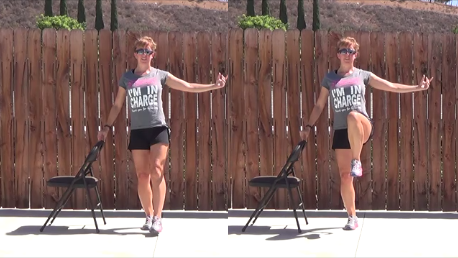 10 min standing chair workout 20140813 knee lift