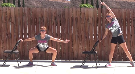 10 min standing chair workout 20140813 plie with arm reach