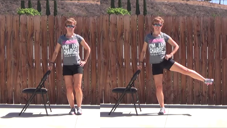 10 minute Standing Chair Workout - Di Hickman E-RYT 200