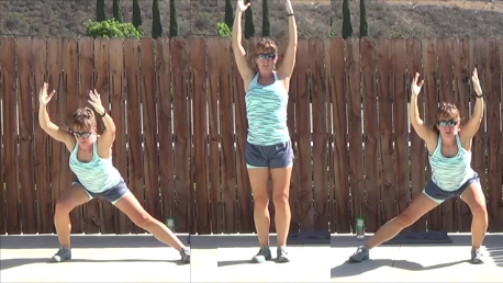 8 minute jump rope pyramid workout 20140903 side lunge