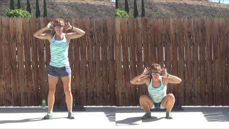 8 minute jump rope pyramid workout 20140903 squat