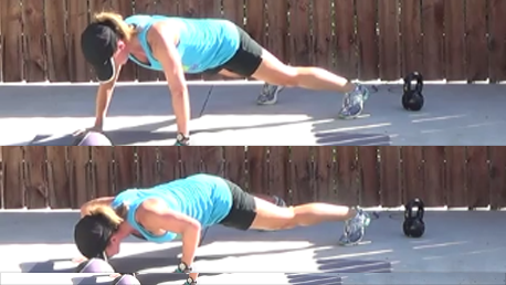 crossfit style workout 20140924 push up