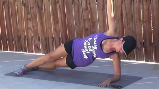 12 minute core workout side plank
