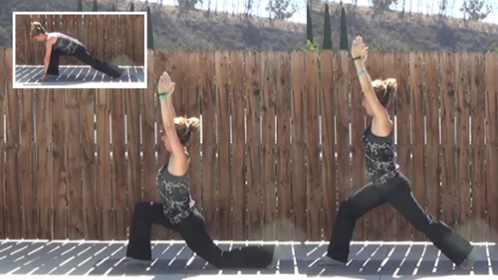 8 minute yogalates 20141022 lunges