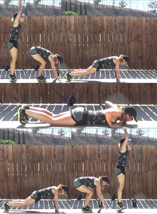 quick cardio workout for time 20141015 burpees