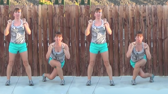 5 minute total body workout 20141125 curtsey lunges