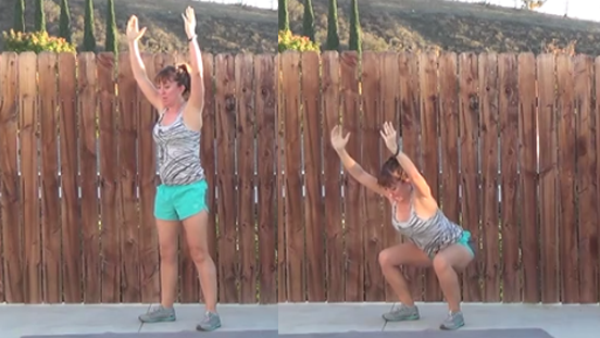 5 minute total body workout 20141125 squats