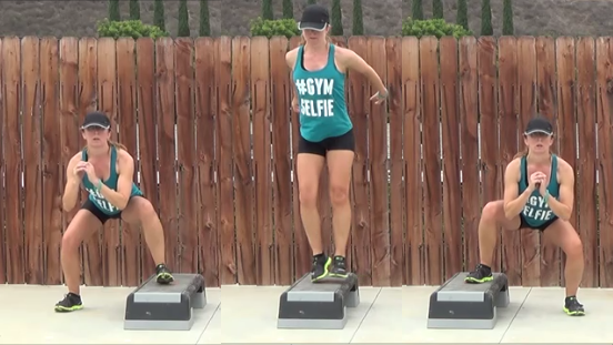 8 minute step workout 20141105 3 pulse squat