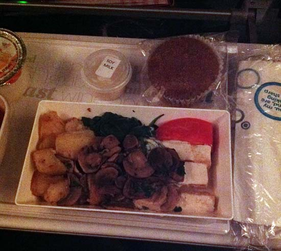 air new zealand vegan food 2014 LHR-LAX A