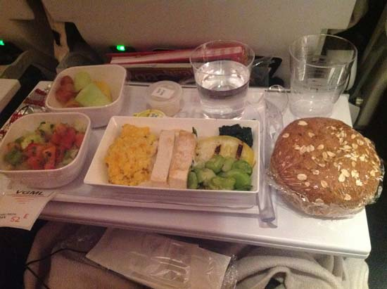 air new zealand vegan food 2014 LHR-LAX B