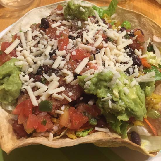 vegan tostada salad bowl