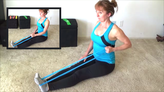 10 minute resistance band workout  row