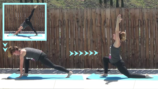 10 minute yogalates workout 20150414 lunge crescent