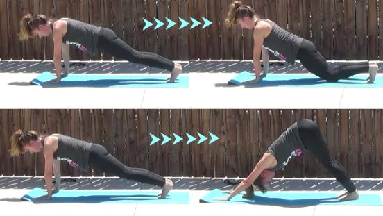 10 minute yogalates workout 20150414 push up plank dog