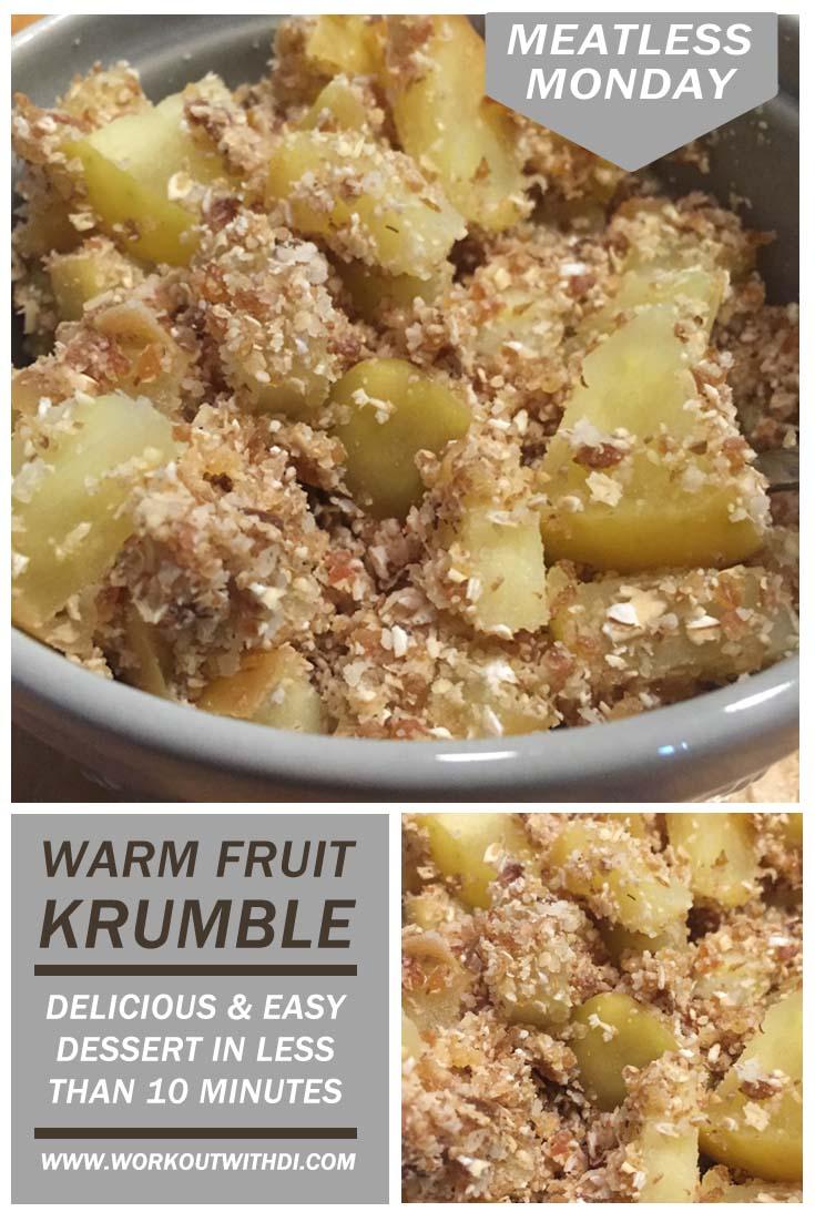 meatless monday vegan pear krumble recipe