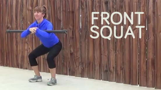 bodybar workout FRONT SQUAT