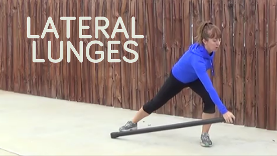 bodybar workout lateral lunge