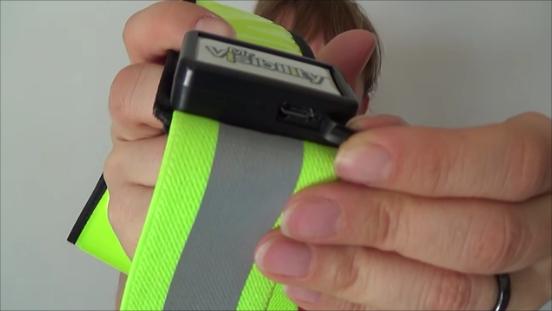 mr visibility reflective LED belt
