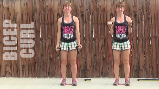 resistance band workout 20150506 bicep curl