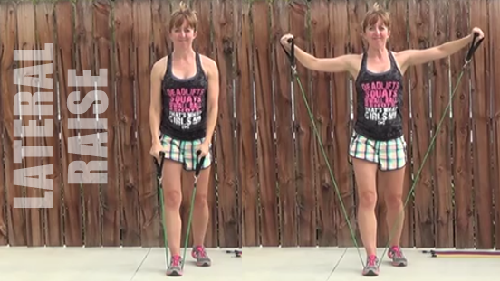 resistance band workout 20150506 lateral raise