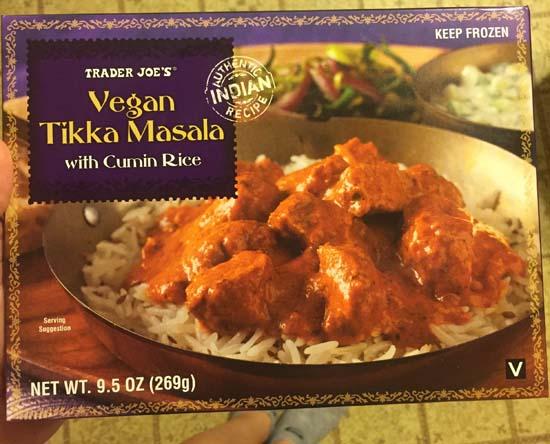 trader joes vegan tikka masala review