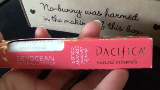 vegan cuts may 2015 beauty box review pacifica lipstick