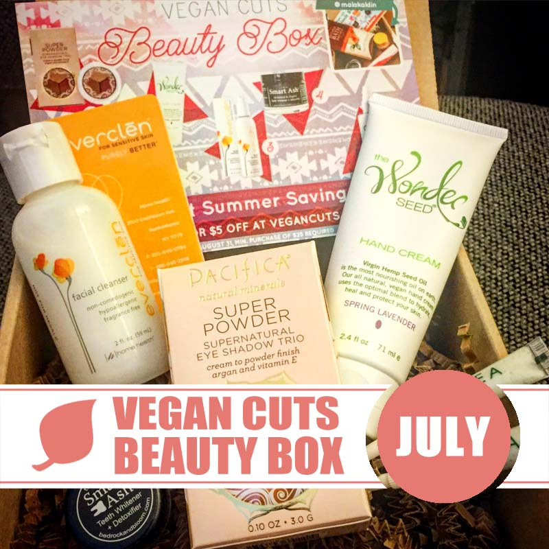 Vegan Cuts Beauty Box July 2015