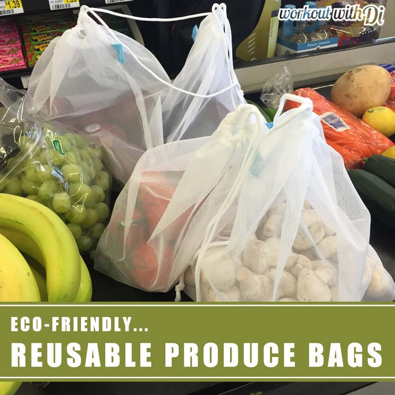 Reusable produce bags for Meatless Monday Shopping