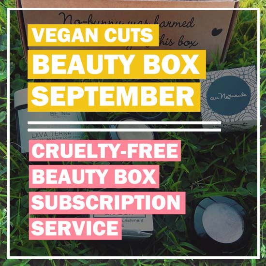 VEGAN CUTS SEPTEMBER BEAUTY BOX review