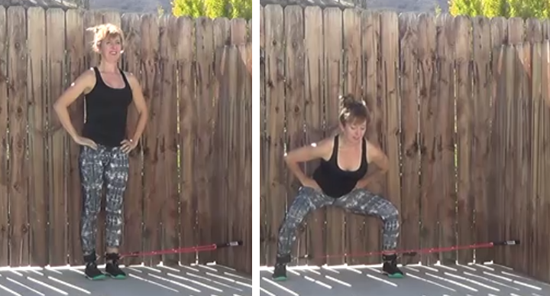 resistance tubing butt & thighs workout