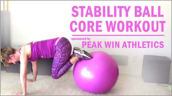 Wanting to use that stability ball you bought a while ago? How about trying this stability ball core workout featuring 9 core exercises to help tone and shape your abs. Whether a beginner or advanced athlete you'll find one exercise that you can do. (I love #5)
