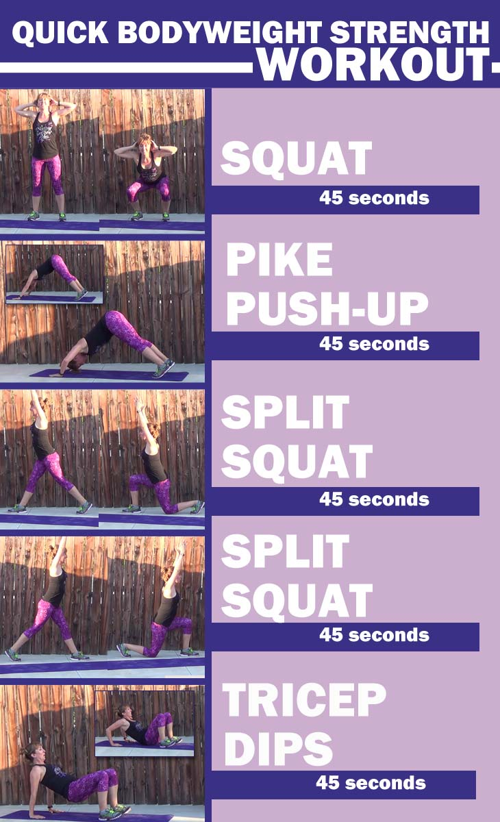 Quick Bodyweight strength workout