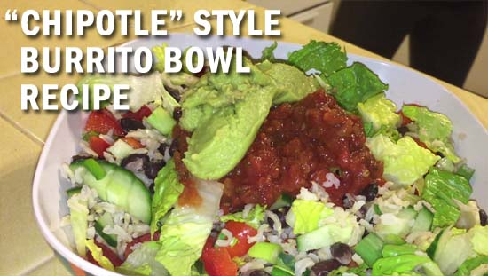 meatless monday chipotle burrito bowl recipe thumbnail