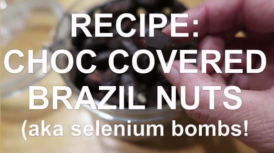recipe - choc covered brazil nuts