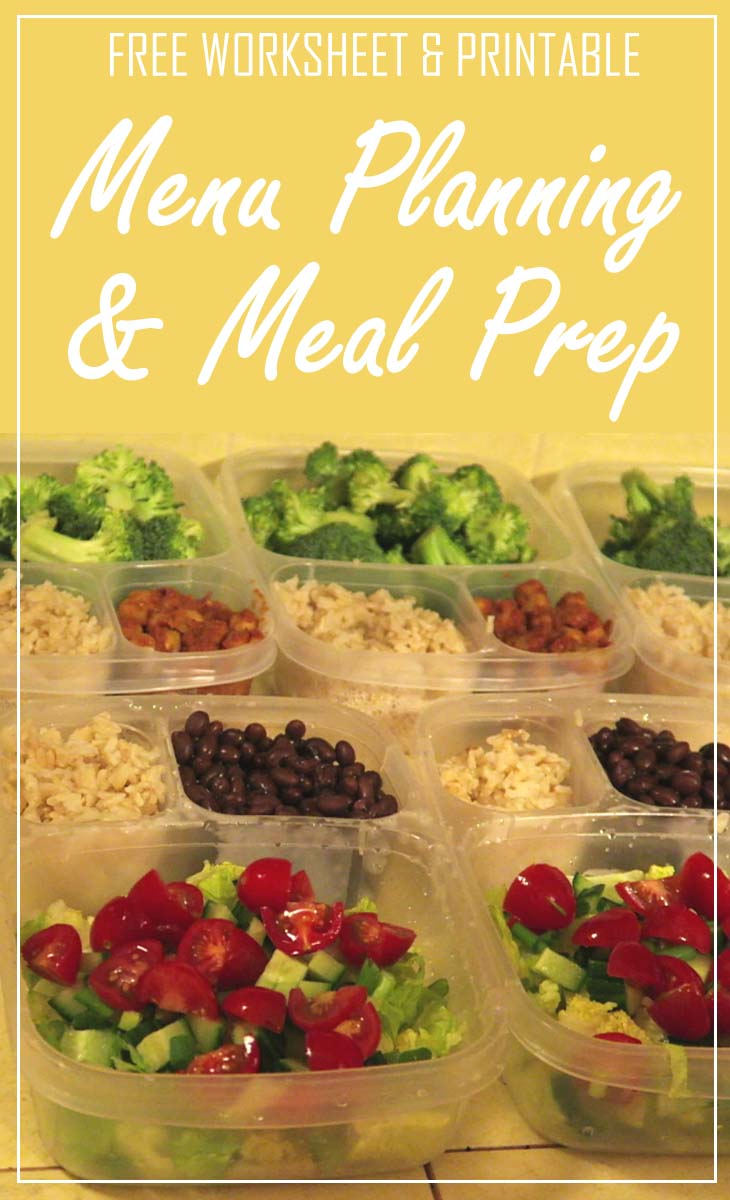 menu planning meal prep pin