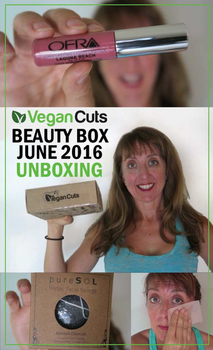 vegan cuts beauty box june 2016 unboxing pin