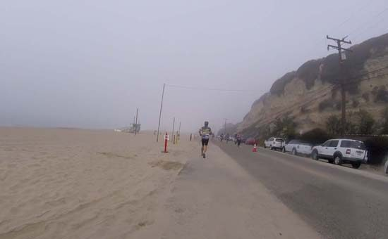 my first triathlon run