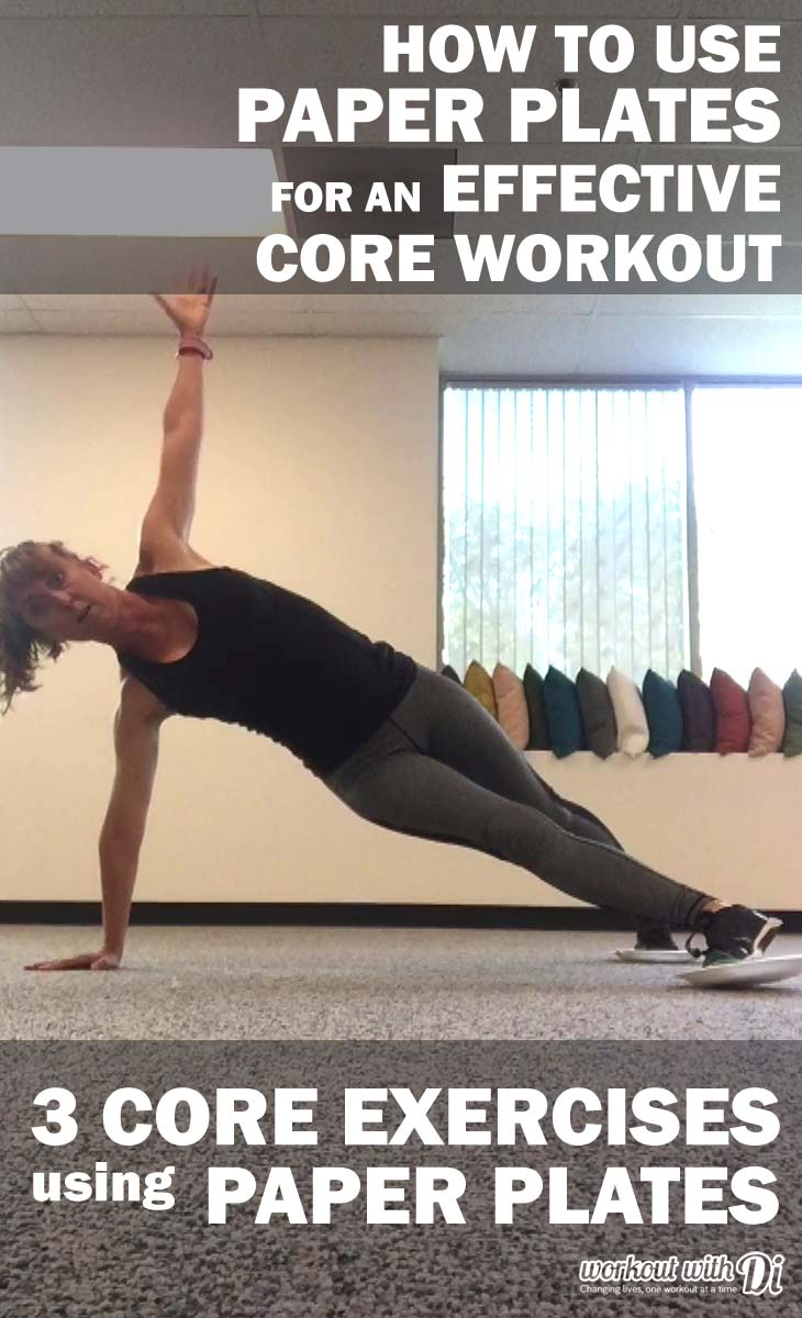 3 Core Exercises using Paper Plates