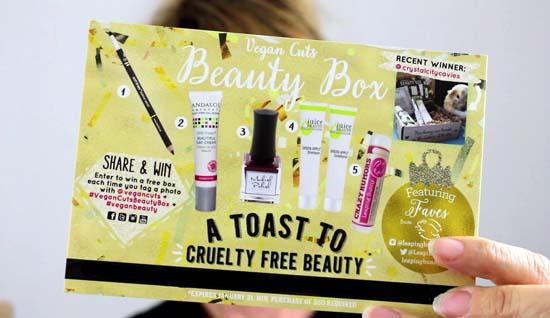 cruelty free vegan cuts beauty box dec 2016
