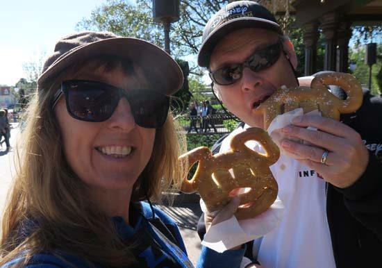 vegan at disney world mickey pretzel